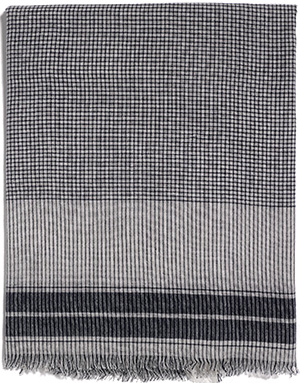 Eric Bompard Woven Checks Stole: €136.