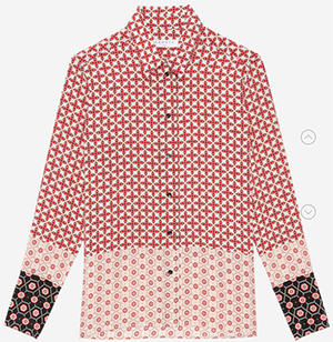 Sandro Boro women's shirt: US$470.