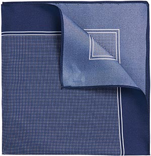 'Pocket Square cm 33 × 33 | Silk Patterned Pocket Square by BOSS: US$55.