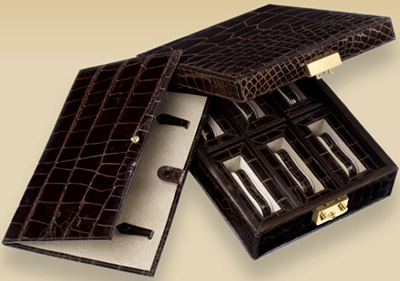 Brioni crocodile watch box: US$5,000.