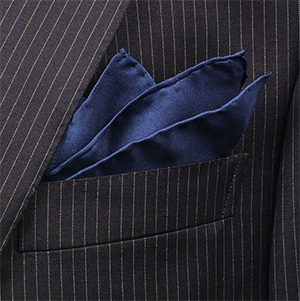 Bromleys Silk Handkerchief 43cm × 43cm Navy Hand Rolled: £15.05.