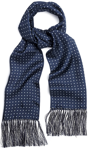 Budd luxurious scarf hand made from English foulard silk: £145.