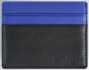 Bugatchi Leather Credit Card Holder in Soft Lambskin with Money Clip: US$95.