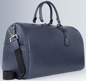 Bugatchi Saffiano Split Leather Duffel: US$495.