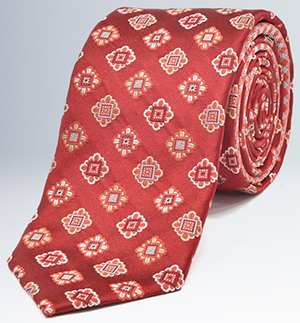Bugatchi Medallion 100% Silk Tie: US$79.50.