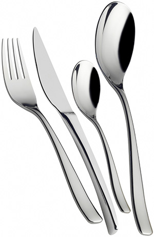 Casa Bugatti Amalfi stainless steel table cutlery.