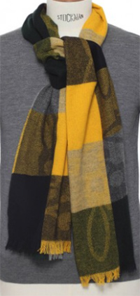 Psycho Bunny Oversized Buffalo Plaid Scarf - Chamois: US$275.