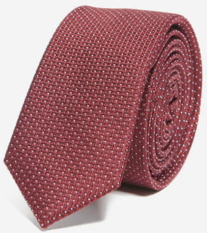 Sandro Burgundy Union Dots tie: US$125.