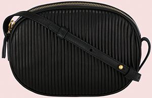 Barbara Casasola Pleated Cross-Body women's bag black: £355.