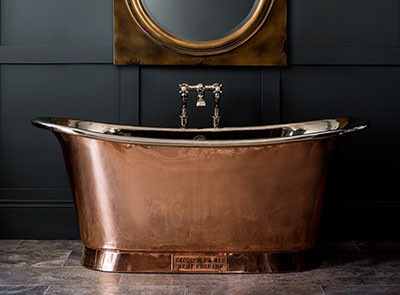 Catchpole & Rye Copper Bateau bath: £4,500.00 plus VAT.