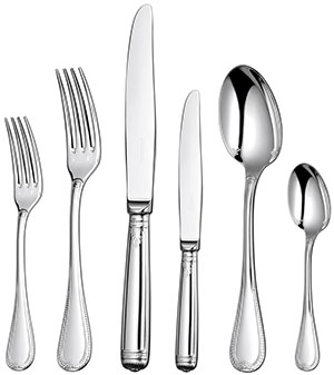 Christofle Malmaison 36-Piece Silver Plated Flatware Set with Chest: US$3,550.