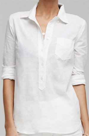 Citizens of Humanity women's Avery Shirt in white: US$198.
