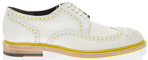 Robert Clergerie Sir Romy Perforated wing-tip brogue in smooth calfskin.