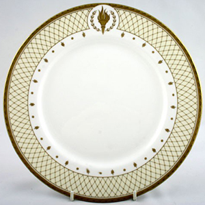 Royal Worcester - Clive Christian - Empire Flame dinner plate.