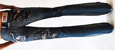 Key Closet Diamond-Studded $10,000 Dragon/Tiger Women's Denim.