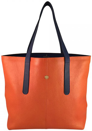 C.Nicol Phoebe 'Orange' with Navy Strap: £425.