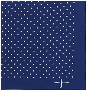 J by Jasper Conran Designer navy pin dot silk pocket square: £14.