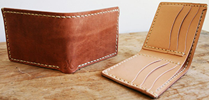 Corter Leather & Cloth Classic Bifold (Old World Harness) men's wallet: US$99.