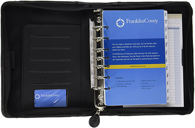 FranklinCovey 33963 Nappa Leather Ring Bound Organizer w/Zipper, 8 × 10, Black: US$77.76.