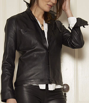Daryl K Stretch-Leather women's shirt: US$1,095.