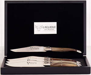 Dean & DeLuca Stainless Steel Knife with Bolsters Horn Set-4: US$400.