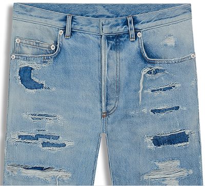 Dior Worn Effect Blue Cotton Jeans: £600.