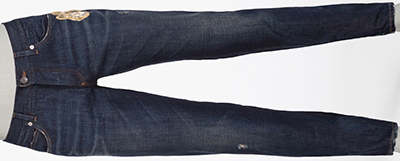 Dolce & Gabbana Gold 14 Fit Men's Jeans with Patch: US$995.