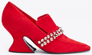 Dora Teymur Telephone Court Shoe in Red Suede: £370.