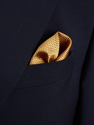 Duchamp Geo Contrast Pocket Square: £65.