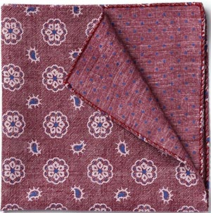 Allen Edmonds Medallion Dot Pocket Square: US$56.25.