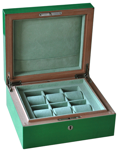 Elie Bleu 6 Watches Box Fruit Line Green Sycamore: €2,302.