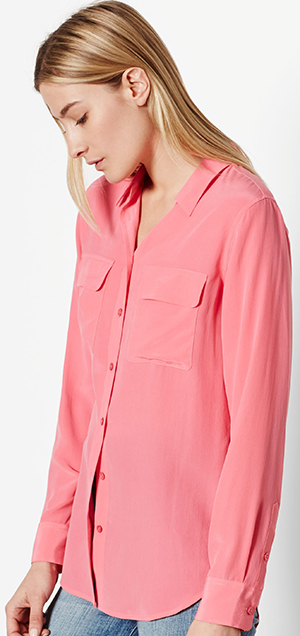 Equipment women's Slim Signature Silk Shirt: US$214.