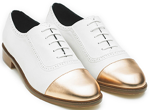 Equipment Meandher Lulu Oxford White Gold Shoes: US$388.