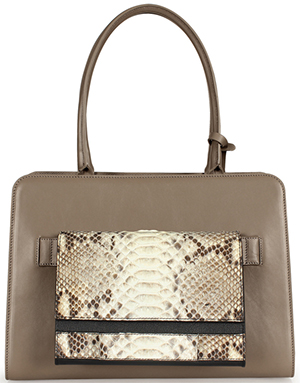 Esin Akan City Mink & Natural Python women's handbag: £799.