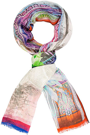Etro men's Scarf with Fringed Hem: €420.