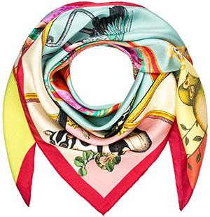 Etro women's Silk-Twill Square Scarf: €280.