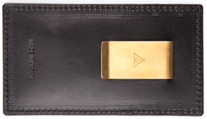 Timothy Everest Black Money Clip Wallet: £71.