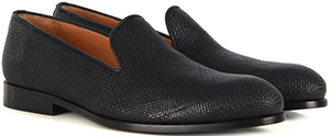 Farrutx Trick Black Leather Slippers: €114.