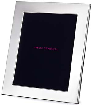 Theo Fennell Sterling Silver 10 × 8 Standard Weight Photo Frame with Leather Back & Silk Inlay: £550.