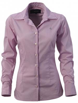 Women's Ferrari stretch blouse: US$90.