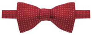 Alain Figaret Dark red silk bow tie with patterns: €31.50.