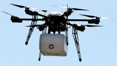 Flirtey - First successful drone delivery made in the US.
