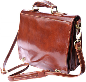 Florence Leather Market men's Leather Briefcase with Two Compartments: €248.88.