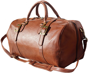 Florence Leather Market men's Leather Travel Bag with Front Straps: €366.