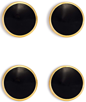 Tom Ford Onyx and Gold Disc Studs Set: US$4,450.