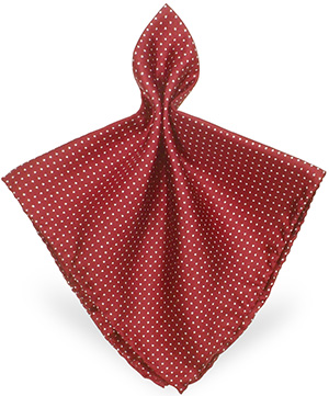 Forzieri Mini Polkadot Twill Silk Pocket Square: US$57.60.