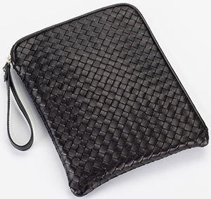 Giorgio G Intreccio black woven genuine leather men's handbag: €167.