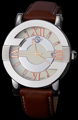 Giorgio G Timepiece Copper G Stainless steel case, leather strap men's watch: €90.