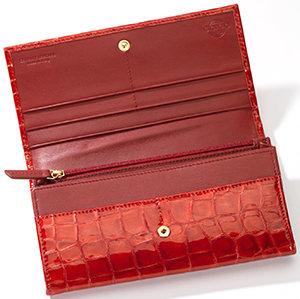 Giorgio G full-sized women's wallet of genuine Italian leather: €130.