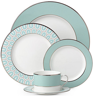 Clara Aqua 3-piece Place Setting by Brian Gluckstein: US$119.95.